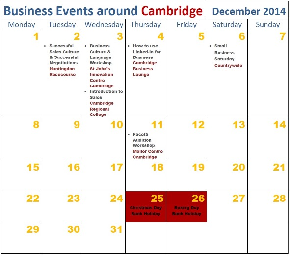 December 2014 Cambridge