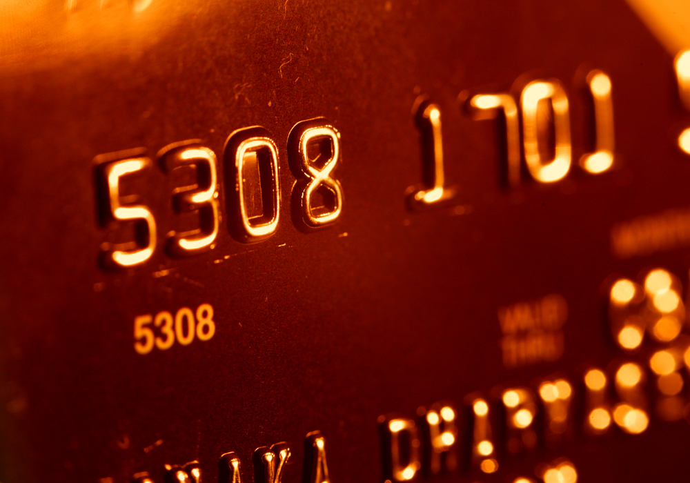 Close-up picture of a credit cards